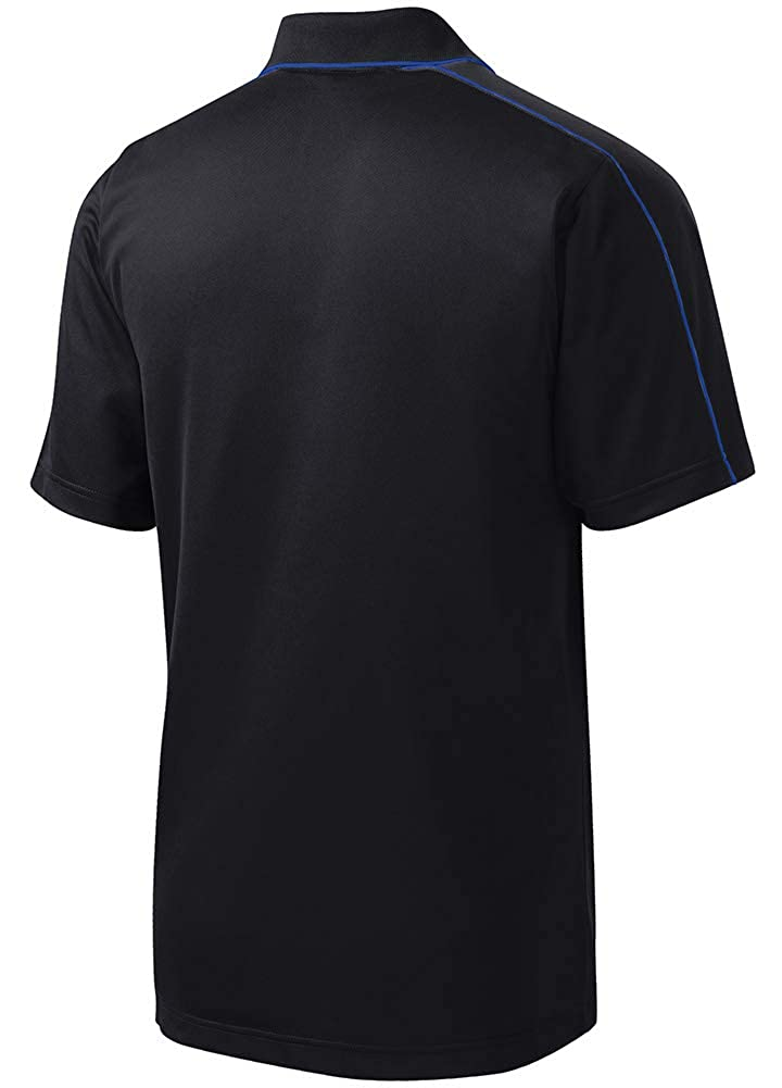 DRIEQUIP Mens Moisture Wicking Piped Polo Sizes XS-4XL