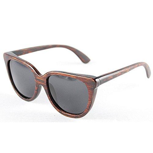 que Gafas conducen de de Gafas de hechos bambú sol Retro los gato Ojos las Gafas sol de de mano de a polarizadas sol Sunglasses Marrón ULTRAVIOLETA protección de la Beach retro sol madera gafas hombres de de SfCC1vwqx