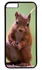 Cute Squirrel Animal Case for iPhone 6 PC Black by Cases & Mousepads