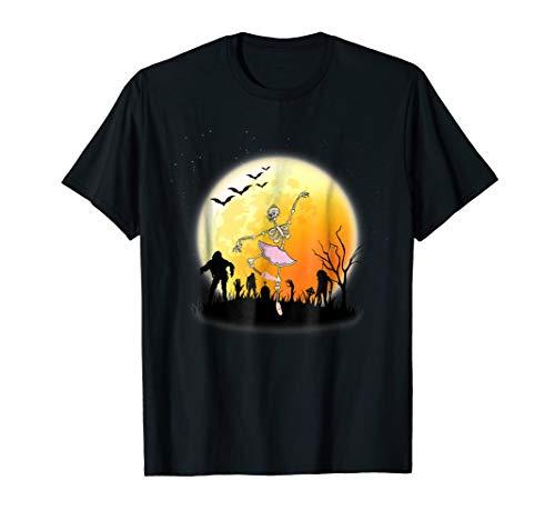 Ballet Skeleton Halloween Costume T-Shirt -