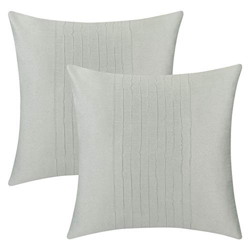 - The White Petals Set of 2 Sage Green Euro Pillow Sham Covers with Pin Tucks Panel (26X26 inches, Sage Green)