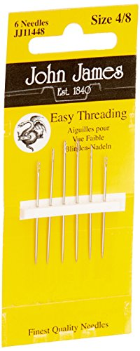 Easy Needle (COLONIAL JJ114-48 Easy Threading Calyxeye Hand Needles, 4/8 6/)