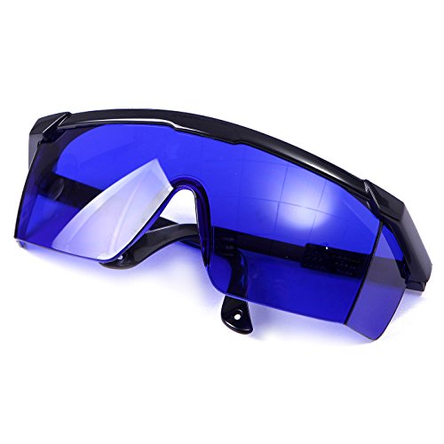 HDE Laser Eye Protection Safety Glasses for Red and UV Lasers with Case (Blue) Laser Protective Eyewear