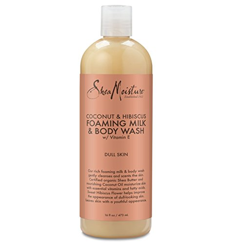 SheaMoisture Coconut & Hibiscus Foaming Milk & Body Wash, 16 Ounce