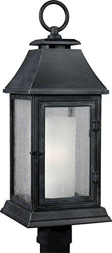 Feiss OL10608DWZ Shepherd Marine Grade Outdoor Post Lighting, Bronze, 1-Light (9″W x 24″H) 75watts