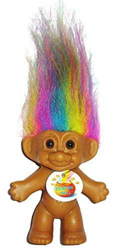 (My Lucky Lottery Mini Rainbow Troll Doll)