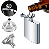 Binmer (TM) Tool Handle For Liquid Mini Funnel Stainless Steel Small Mouth Filling Flask Metal Cooking Funnel For Essentail Oil/Wine