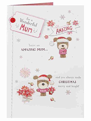 Mum - Merry Bright Lots of Woof Luxury New Christmas Greeting Card Merry Christmas Wishes For Grandson
