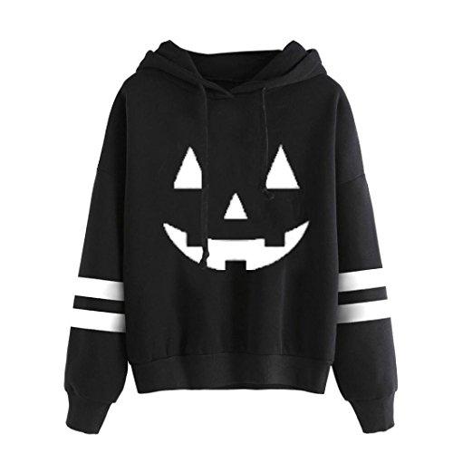 Women Blouse ,IEason 2017 Hot Sale! Women Halloween Long Sleeve Hoodie Sweatshirt Jumper Hooded Pullover Tops Blouse (XL, White)