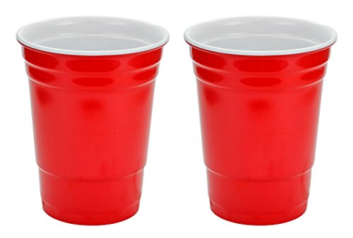Fairly Odd Novelties 16oz Red Cup Made Out Of Melamine 2 Pack Living It Large Drink Solo or With A Friend
