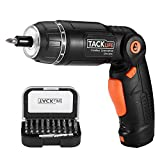 Electric Screwdriver,SDH13DC Cordless Rechargeable Screwdriver 3.6V 2.0Ah Lithium Ion Battery MAX Torque 4N.m, 3 Flexible Position and 6 Torque Setting, Front LED and Rear Flashlight