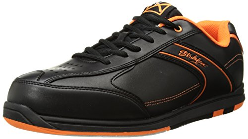 KR Strikeforce M-034-105 Flyer Bowling Shoes, Black/Orange, Size 10.5