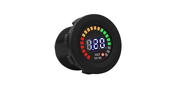 Zerone Car Motorcycle Battery Monitor Volt Voltage Meter LED Digital Display Voltmeter Waterproof