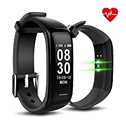 Advance Upgrade Big Screen Blood Pressure Monitor & Heart Rate Monitor Smart Band, Activity Tracker, Fitness Smart Band for Sports and Calorie Burning