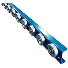 Conveyor Rails | Flow Rail 5′ Long Skate Wheel Conveyor | T1 Flow Rack System