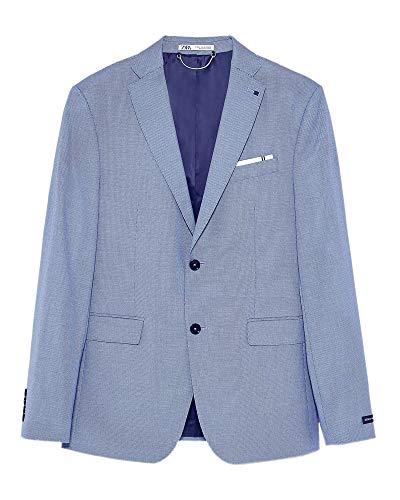 Zara Men Bird?s-Eye Suit Blazer 1564/350 (56 EU) Blue ()