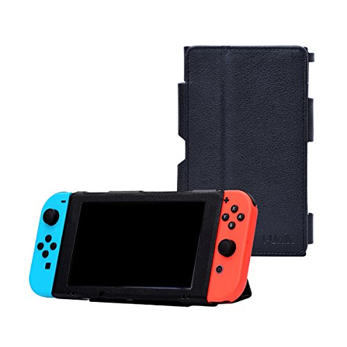 i-UniK Nintendo Switch Case for 2017 Nintendo Switch with Kickstand Cover Protective Case (Black)