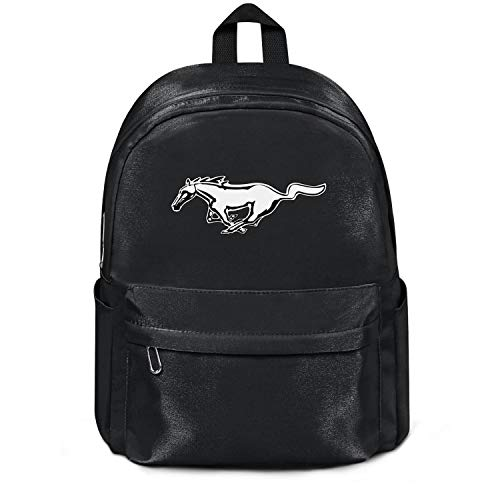 Womens Girl Boys Bag Purse Ford-Mustang-Logo- Fashion Nylon Packable Travel Daypack Backpack College Bookbag Black