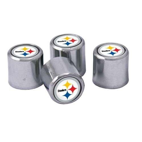 Pittsburgh Steelers Valve Stem Caps 4-Pack by Stockdale