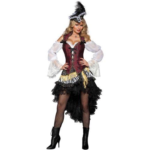 InCharacter Costumes Women's High Seas Treasure Pirate Costume, Black/Red/White, Small]()