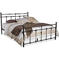 Wholesale Interiors Belinda Shabby Iron Metal Platform Bed, Queen, Dark Bronze