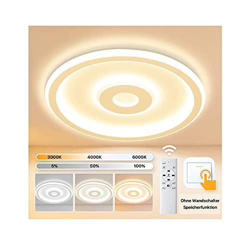 Imoli LED Deckenleuchte 26W Rund Deckenlampe 3000K-6000K Led Lampen Deckenbeleuchtung Modern Weiß Ø 315 mm* H45 mm für Schlafzimmer Wohnzimmer Küche Balkon