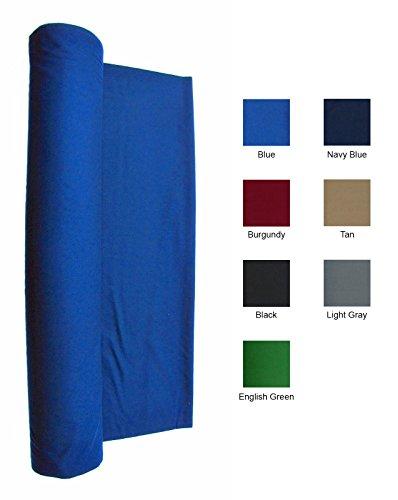 7 Foot Billiard Cloth Felt (21 Ounce Pool Table Felt - Billiard Cloth - For A 7 Foot Table Blue)