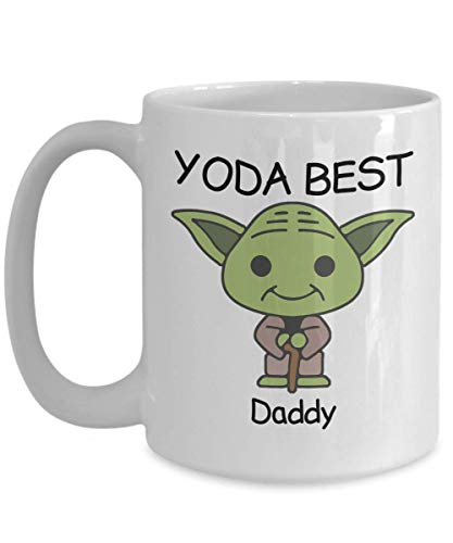 Novelty Gift Mug for Star Wars Fans - Yoda Best Daddy - Co-Workers Birthday Present, Anniversary, Valentines, Special Occasion, Dads, Moms, Family, Christmas - Funny Coffee Mug