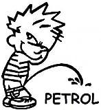 Indiashopers Boy Petrol Sides, Windows Car Sticker (Black)