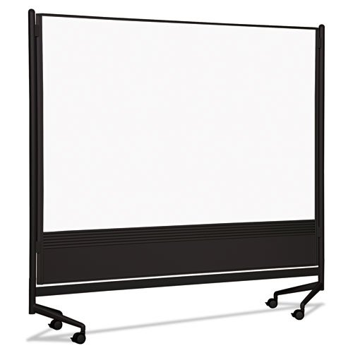 Best-Rite 74902 D.O.C. Mobile Double-Sided Marker Board Divider 72 x 72 Black by Best-Rite