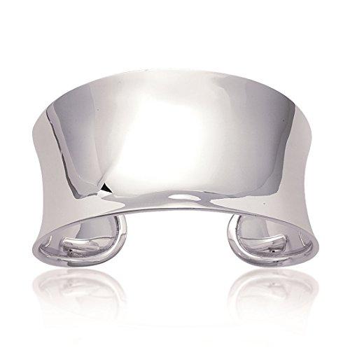MARY JANE - Bracelet Argent Femme - Diam:60mm / Larg:36mm - Argent 925/000 (Jonc / Large / Manchette / Rigide / Rond)