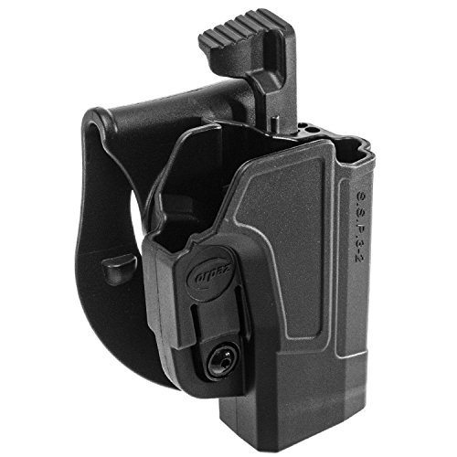 ORPAZ Defense Level 2 retention Tactical Thmub release safety Holster, Tention adjustment, Rotating 360 ROTO paddle for Sig Sauer p320/ P250 Full Size and Compact