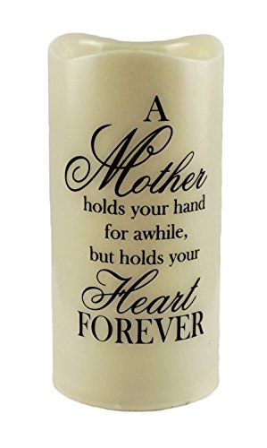 Gerson Mother Holds Your Heart Forever Flameless Memory Candle (Candle Heart Memorial)