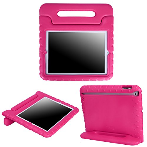 HDE iPad 2 3 4 Case for Kids - Shock Proof Bumper Heavy Duty Protective Cover Handle Stand for Apple iPad 2nd 3rd 4th Generation Tablet (Pink)