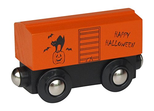 Halloween Boxcar magnetic wooden train