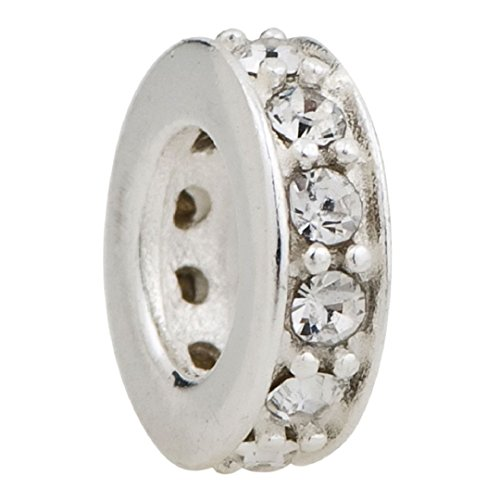 (Charms Bling Jan-Dec Birthstone 925 Sterling Silver Bead Fits European Charm (Clear April Birthstone))