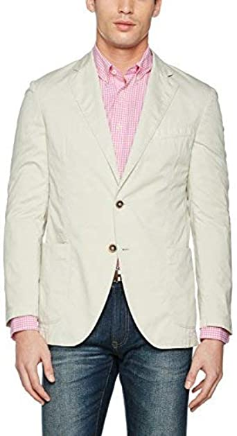 Hackett London SP GMD Jacket Chaqueta de Traje, Gris (Stone ...