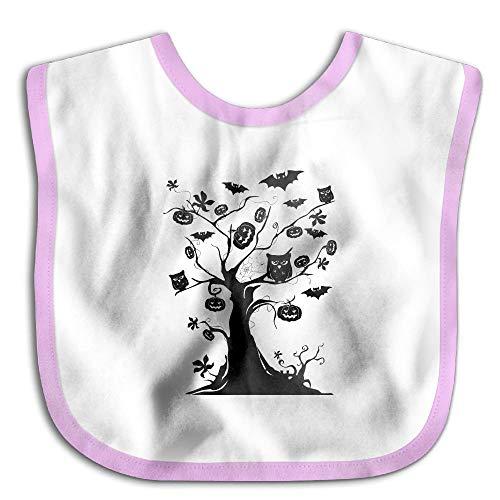 Halloween Pumpkin Owl Bats Dead Tree LeavesWaterproof,Bibs The Baby Bibswoman Teething Bibs Infant Clothes ()