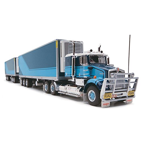 Highway Stripe (1/64 Limited Edition Highway Replicas Blue with Cyan Stripes Freight Road Train)