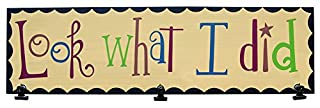 """CWI Gifts 18"""" X 5""""X 5"""" Look What I Did Board with Clips (B00VSL5460) 