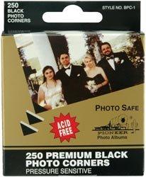 Bulk Buy: Pioneer Premium Photo Corners Self Adhesive 250/Pkg Black BPC1 (4-Pack) Pioneer Photo Albums Inc.