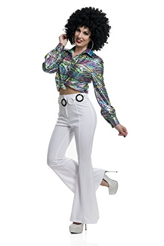 Charades Women's 70's Diva Disco Costume Shirt, As As Shown X-Small -