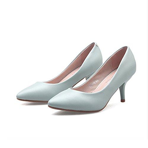 Moda Cabeza Las Sexy Zapatos Tacones Señoras Altos Tacones Tacón Bbdsj Zapatos varios Colores E Redonda Mujeres De Finas Stilettos las Alto d1FqwzFx0