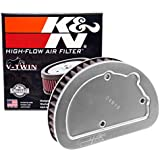 K&N Engine Air Filter: High Performance, Premium, Powersport Air Filter: 2014-2017 HARLEY DAVIDSON (Softail Slim, Heritage, Softail Classic, Fat Boy, Deluxe, Breakout, and other select models) HD-1614, Black, One Size