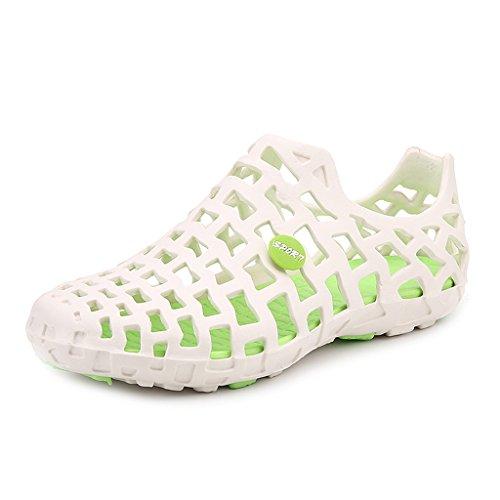 BELECOO Schwimmschuhe Unisex - Erwachsene Badeschuhe Damen Outdoor Schuhe Strand Aqua Schuhe Weiß-Grün
