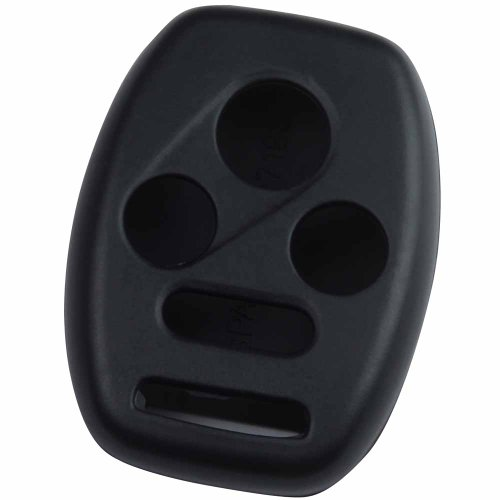 KeyGuardz Black Rubber Keyless Entry Remote Key Fob Skin Cover Protector (2009 Accord Entry Keyless Honda)