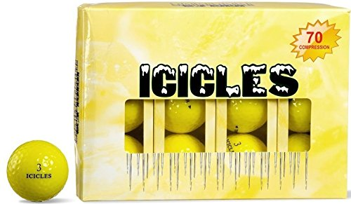 ICICLES Women's V Golf Ball, Yellow by Icicles
