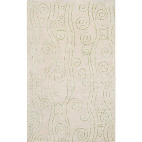 Somerset Bay by Surya Escape ESP-3012 Coastal Hand Tufted 100% New Zealand Wool Ivory 2' x 3' Accent Rug ()