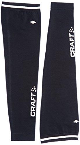 Craft Sportswear Unisex Body Control Reflective Logo Ergnomic Arm Warmer, Black, ()