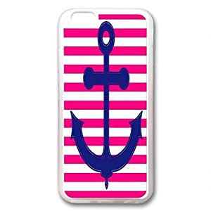 Case For Ipod Touch 5 Cover Transparent, Fashion PERFECT PATTERN *No Chip/No Peel* Flexible Slim for A5Yc2bJ6dhR iPhone 6 -Blue Nautical Anchor stripes design